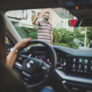 Majitel předává vůz přes aplikaci HoppyGo