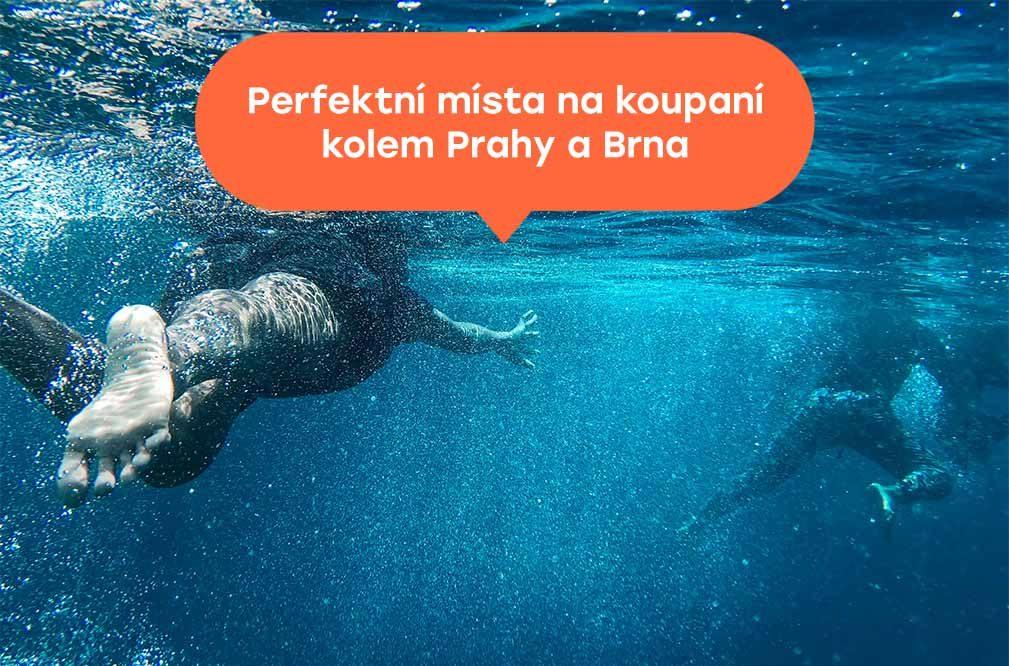 Perfektní místa pro koupaní kolem Prahy a Brna