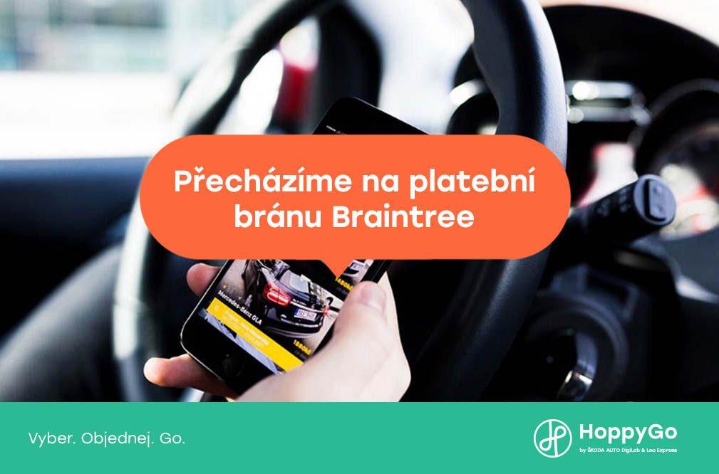 Přecházíme na platební bránu Braintree