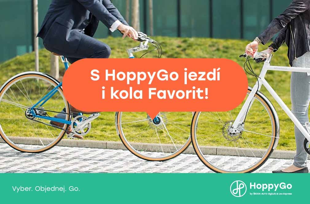 S HoppyGo jezdí i kola Favorit